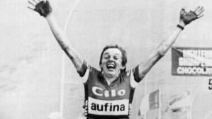 Beat Breu auf der Alpe d'Huez, Tour de France 1982, 14. Etappe. (Foto: Keystone)
