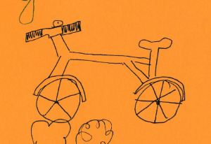 Keine Ahnung, wieso meine Kinder mir immer wieder Fahrräder zeichnen! Aber mir gefallen sie to-tal.